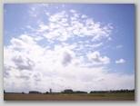 de wolken aan de blauwe hemel in zeeland